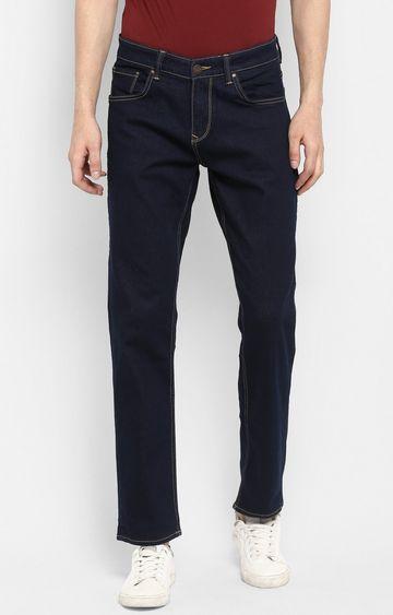 Spykar   Spykar Blue Solid Regular Fit Jeans