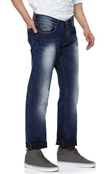 spykar | Spykar Blue Solid Regular Fit Jeans