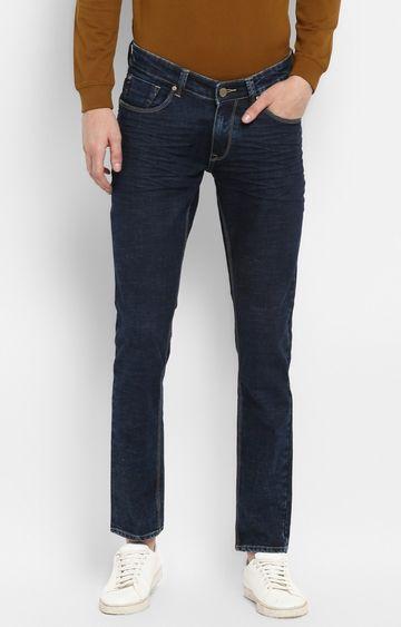 Spykar   Spykar Dark Blue Solid Skinny Fit Jeans