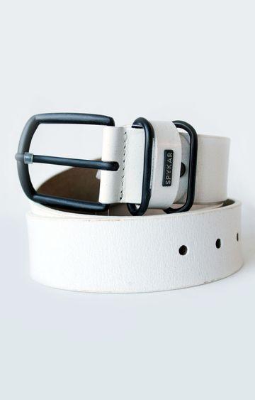 Spykar | Spykar White Leather Belt