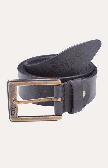 spykar | Spykar Dark Grey Leather Belts