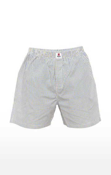 spykar | Spykar Yellow Checked Slim Fit Boxers