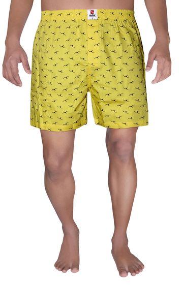 spykar | Spykar Yellow Printed Boxers