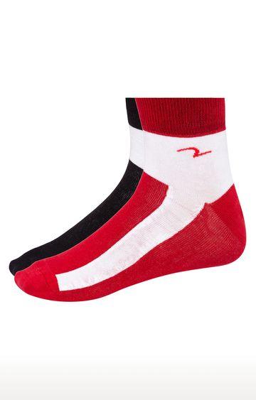 spykar   Spykar Black & Red Solid Ankle length Socks