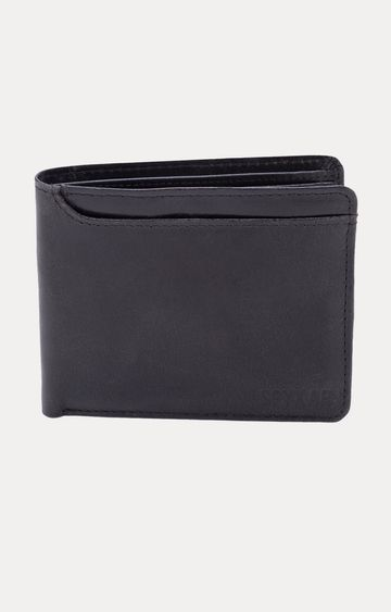 spykar | Spykar Black Leather Wallets