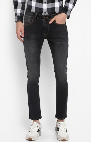 spykar | Spykar Carbon Black Solid Super Skinny Fit Jeans