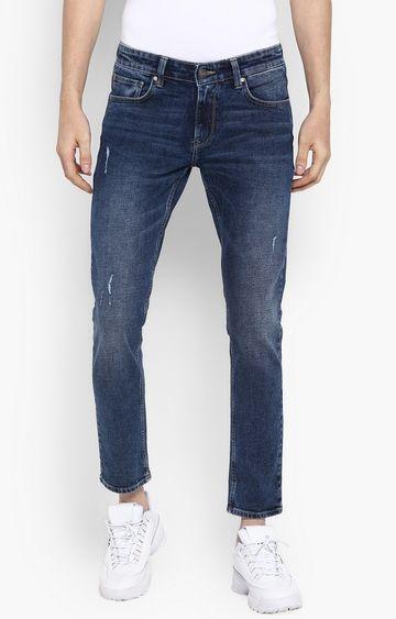 spykar | Spykar Mid Blue Ripped Super Skinny Fit Jeans