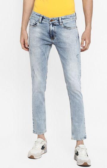 Spykar | Spykar Light Blue Ripped Super Skinny Fit Jeans