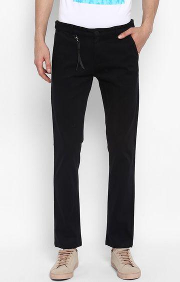 Spykar | Spykar Black Solid Slim Fit Chinos