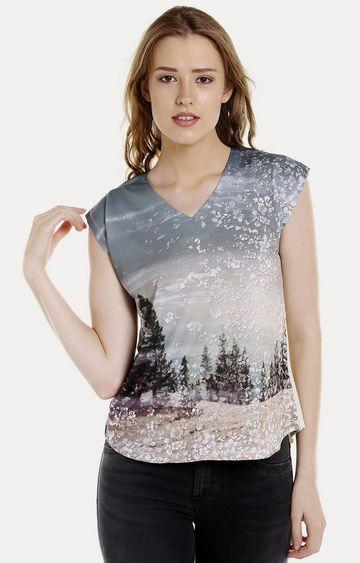 Spykar   Spykar OFF_WHITE Cotton Women T-Shirts