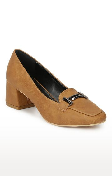 Truffle Collection | Tan Block Heels