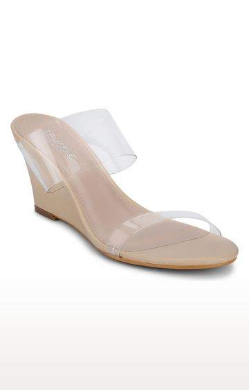 Truffle Collection | Beige Wedges