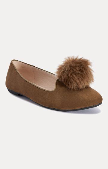 Truffle Collection | Brown Ballerinas