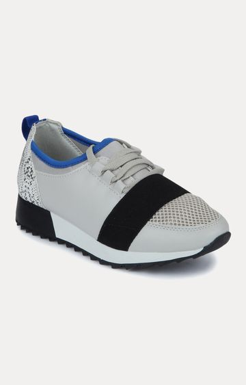 Truffle Collection | Light Grey Sports Shoes