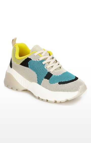 Truffle Collection | Multicoloured Cleated Bottom Casual Lace-ups