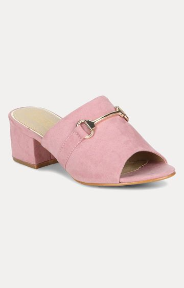 Truffle Collection | Pink Block Heels