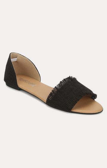 Truffle Collection | Black D'orsay Shoes