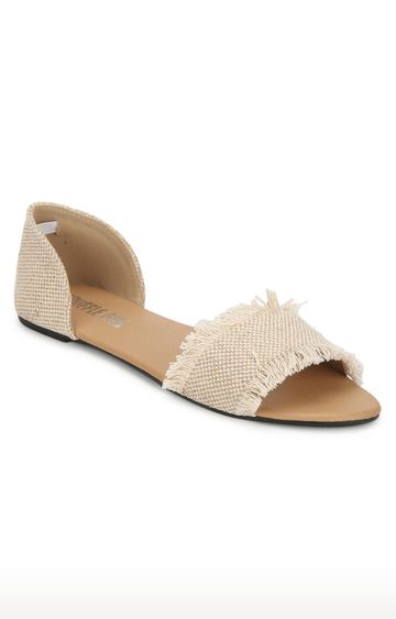Truffle Collection | Beige D'orsay Shoes