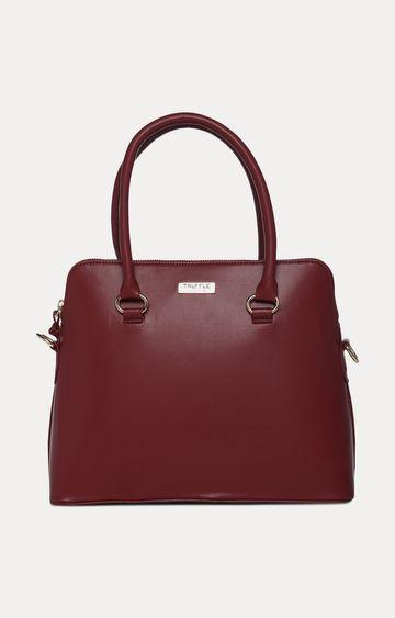 Truffle Collection   Burgundy Handbag