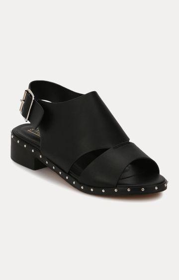Truffle Collection | Black Block Heels