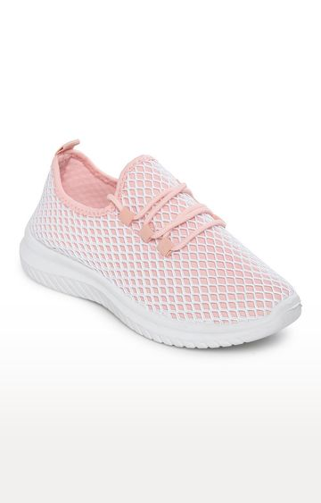 Truffle Collection | Pink Mesh Slip-On Sneakers