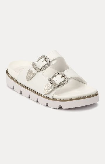 Truffle Collection | White Slip-ons