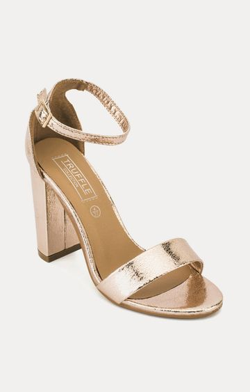 Truffle Collection | Rose Gold Block Heels