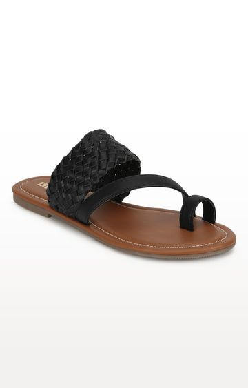 Truffle Collection | Black Sandals