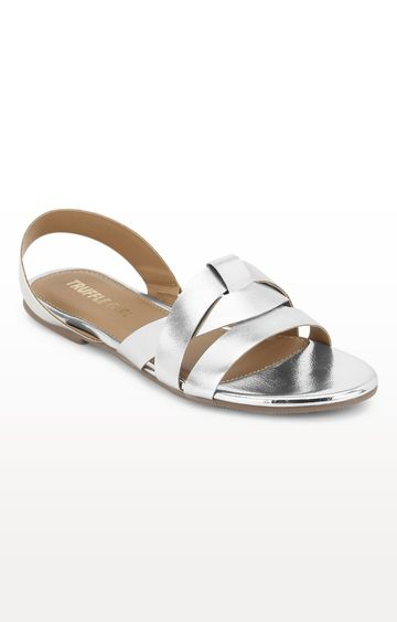 Truffle Collection | Silver Sandals