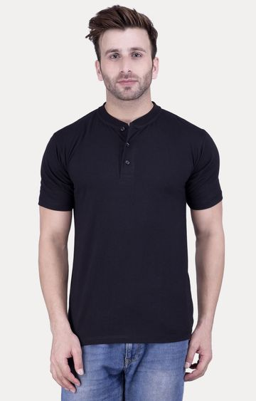 Weardo | Black Solid T-Shirt