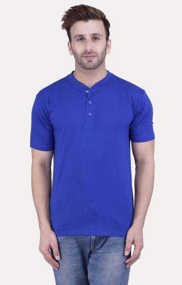 Weardo   Royal Blue Solid T-Shirt