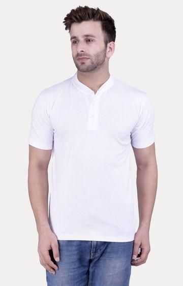 Weardo   White Solid T-Shirt