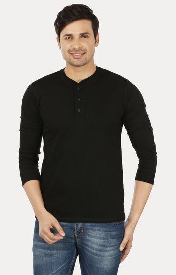 Weardo | Black Solid T-Shirt