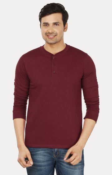 Weardo | Maroon Solid T-Shirt