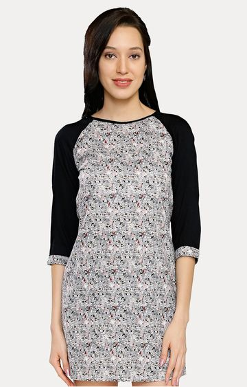 Smarty Pants | Black Printed Shift Dress