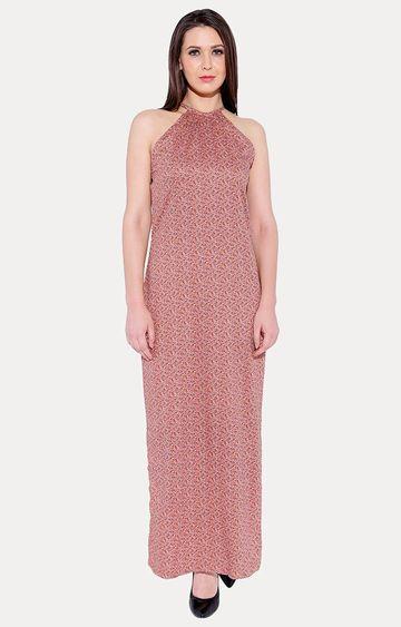 Smarty Pants | Peach Printed Maxi Dress