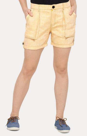 Smarty Pants | Orange Solid Shorts