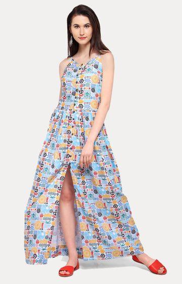 Smarty Pants   Multicoloured Printed Maxi Dress