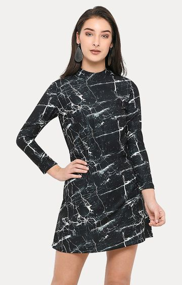 Smarty Pants | Black Printed Shift Dress
