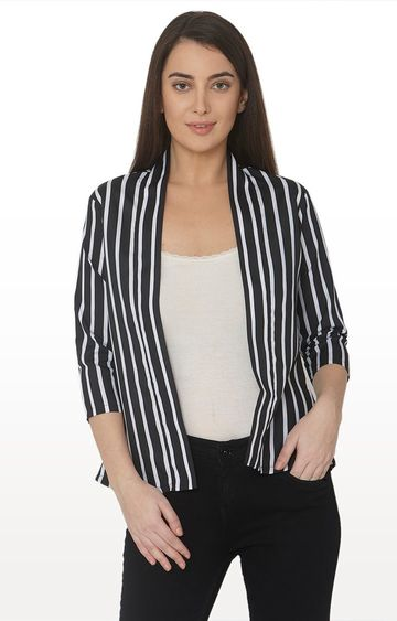 Smarty Pants | Black Striped Jacket