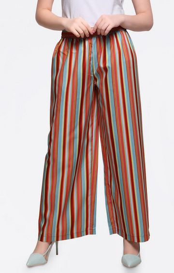 Smarty Pants | Multicoloured Striped Palazzos