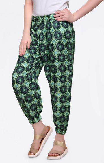 Smarty Pants   Green Harem Pants