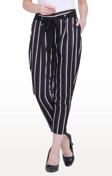 Smarty Pants | Black Striped Palazzos