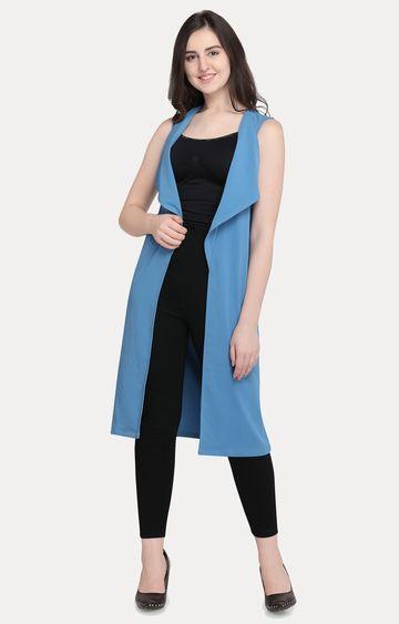 Smarty Pants | Light Blue Solid Shrug