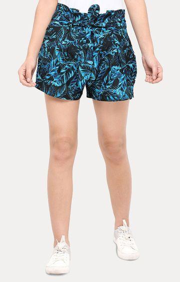 Smarty Pants   Blue Printed Shorts