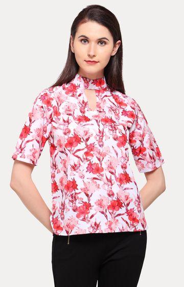 Smarty Pants | Coral Floral Blouson Top