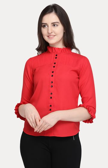 Smarty Pants | Red Solid Top