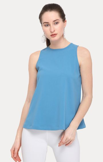 Smarty Pants   Light Blue Solid Top