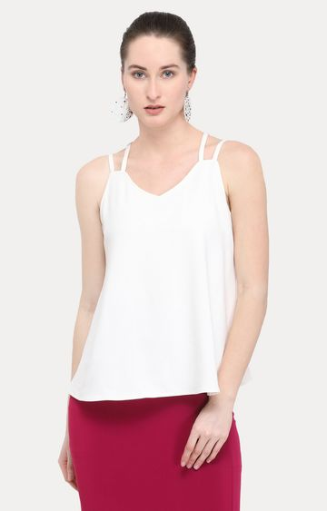 Smarty Pants | White Solid Top