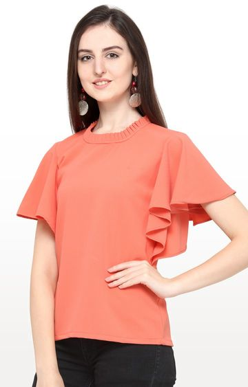 Smarty Pants | Peach Solid Top